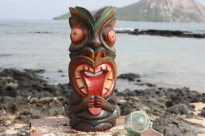 "Big Kahuna Tiki Mask 12"" - Hawaiian Tiki Bar Decor"