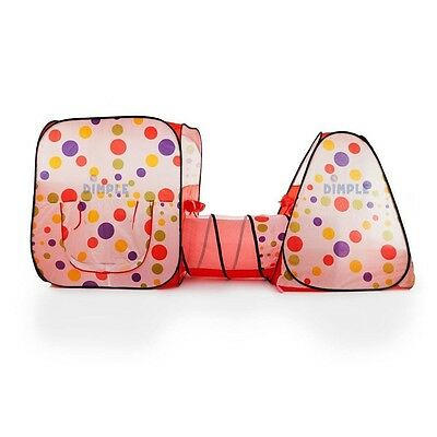 Dimple Child Pop Up Triangle and Square Tent with Tunnel DC11878
