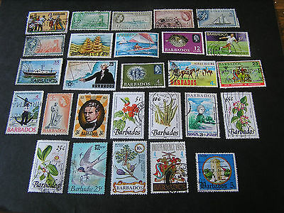 Barbados, Assorted #1, 27 Different Stamps Package Fine Used