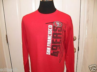 Brand New w/Tags Red San Francisco 49ers Long Sleeve Logo T-Shirt