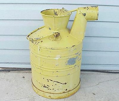 Unique Antique Dairy Farm Milk Can? Fuel Measuring Can?