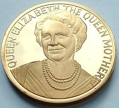 Superb Proof UNC 1980 Britain - 80th Birthday of The Queen Mother  Medal R: 1031