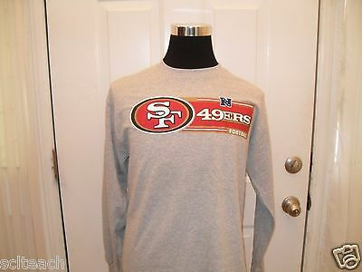 Brand New w/Tags Gray and Red San Francisco 49ers Long Sleeve Logo T-Shirt.Sharp