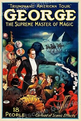 """George - The Supreme Master of Magic"" 1920s Vintage Style Poster - 16x24"