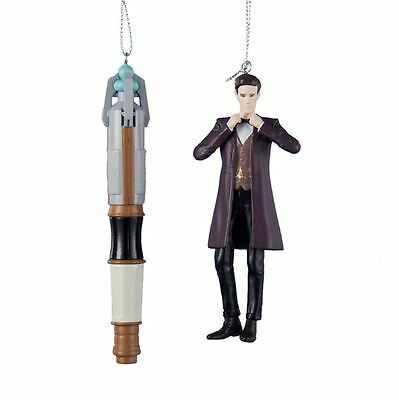 DW1141 Set/2 11th Doctor Who Sonic Screwdriver Ornament BBC Matt Smith Time Lord