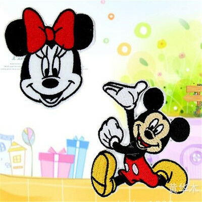 FD817 Embroidery Cloth Iron On Patch Sew Motif Applique Cartoon Mouses 2PC ✿