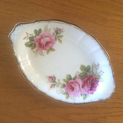 American Beauty by Royal Albert  Relish Tray  or Under Plate for Cream/Sugar