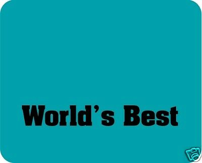WORLD'S BEST - your choice!  Mouse Pad - Free Personalizing!