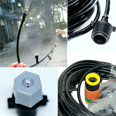 15m Garden Plants Irrigation Patio Misting 20 Micro Dripper Kit Cooling System