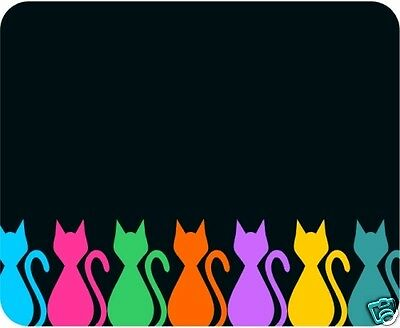 Cats - Colorful Mouse Pad - Free Personalizing!