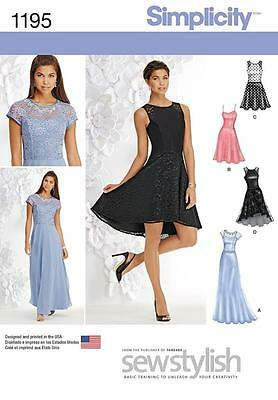 Simplicity Sewing Pattern Misses' Special Occasion Dress Wedding  4 - 20 1195