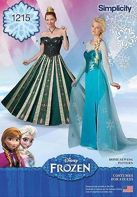 Simplicity Sewing Pattern Misses' Disney Frozen Costumes Sizes 6 - 22 1215