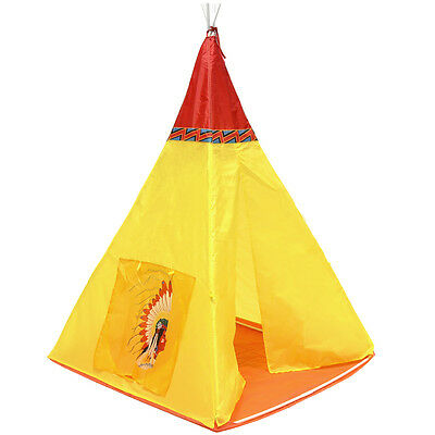 Charles Bentley Children's Indoor Outdoor Wigwam Tepee Pop Up Garden Play Tent