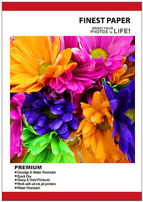 100 Sheets 170gsm A4 Gloss Photo Paper for Inkjet Printers Glossy
