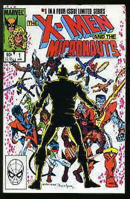 X-MEN AND THE MICRONAUTS #1-4 NEAR MINT COMPLETE SET 1984