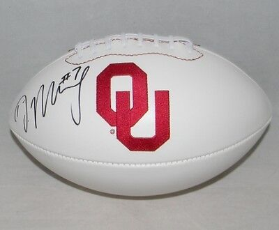 Demarco Murray Autographed Signed Ou Oklahoma Sooners White Logo Football Jsa
