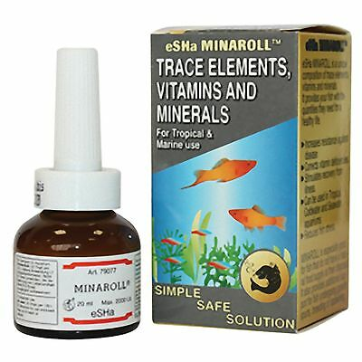 Esha Minaroll 20ml Trace Elements Vitamin & Minerals Fish Additive for aquariums