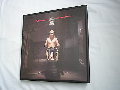 THE MICHAEL SCHENKER GROUP LP cover framed for wall mounting black/silver/walnut
