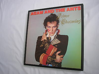 ADAM & THE ANTS Charming LP cover framed for wall mounting black/silver/walnut