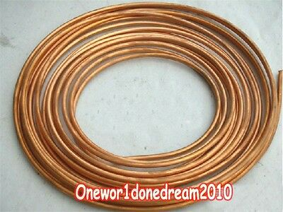 OD 1/4'' 10' Feet Soft Flexible Refrigeration Copper Capillary Tubing Tube Coil