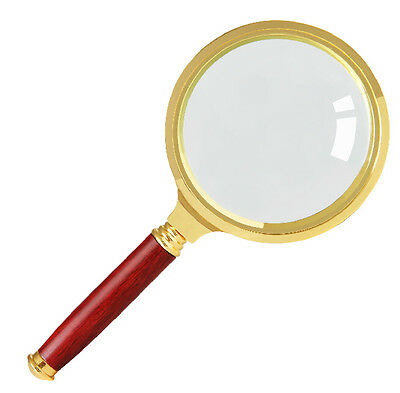 new 10X Handheld Magnifier Magnifying Glass Loupe Reading Jewelry 90mm