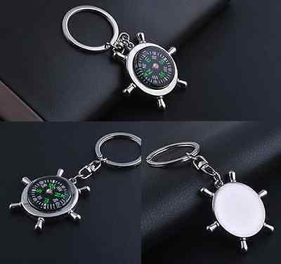 Mini Metal Precise Portable Camping Sport Hike Keychain Outdoor Compass Ring hs