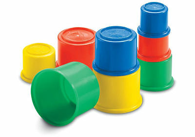 Fisher Price 8 Building Beakers Stacking Blocks Nesting Cups Baby Toddler Toy