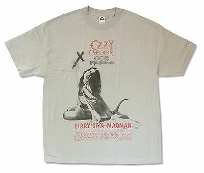 """Ozzy Osbourne """"30 Year Anniversary"""" Light Grey T-Shirt New Official Adult"""