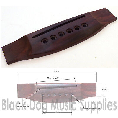 Rosewood acoustic / classical guitar bridge hardwood wood