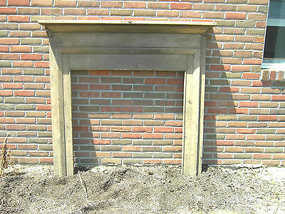 Antique Fireplace Mantel 1800's Heart Pine Vitorian Dirty Cream Surround #2