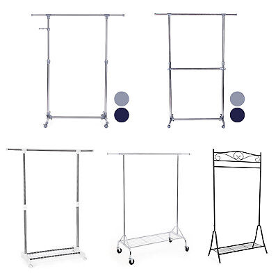 Metal Garment Clothes storage rack rail Hanger retail display Clotheshorse