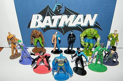 Batman Superhero Figure Toy Set 0f 12 w/ Catwoman, Joker, Robin, Nightwing Etc