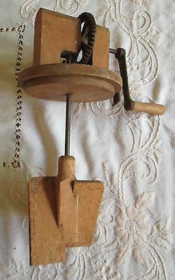 Wooden base rotary butter churn paddles only no glass bottle