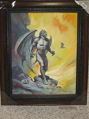 Mike Hoffman Original Painting Anguished Demon In Hell16 X 20