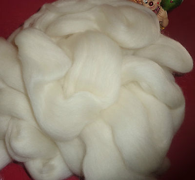 Beautiful Tops/rovings  Natural White Corriedale & Mohair  Spinning