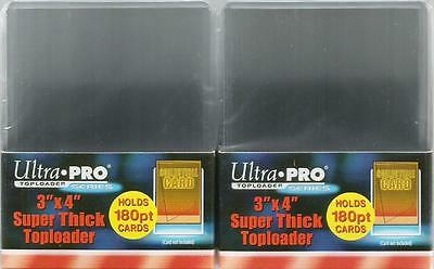 Ultra Pro Trading Card Top Loaders Two Packs 180pt Toploaders 76mm x 102mm