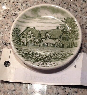 Green Historical Staffordshire Cup Plate Anne Green Gables Pei By Wood & Sons