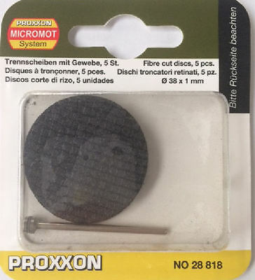 Proxxon 5 x Aluminium Oxide cutting discs 38mm 28818 / Direct from RDGTools