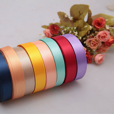 "Hot-Selling High Quality Colorful Satin Ribbon Craft 3/8"" 5/8"" 25 Yards"