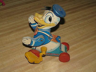 1955 #765 Talking Donald Duck Fisher Price Toy -- Excellent