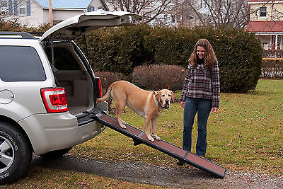 "Pet Gear Travel Lite 71"" Tri-Fold Dog Cat Ramp 200lbs capacity TL9371CH"