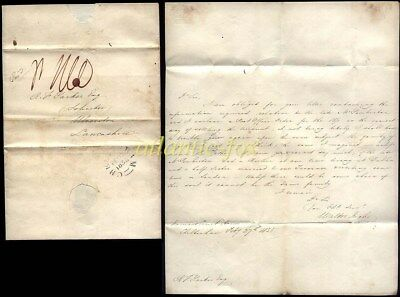 1835 CHELTENHAM p/m Letter NORWOOD COURT HOUSE by Walter Inglis to ULVERSTON