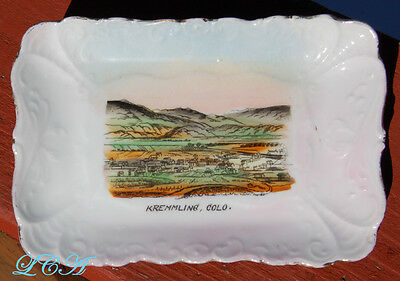 Rare KREMMLING COLORADO antique dish w/pic of OLD TOWN !