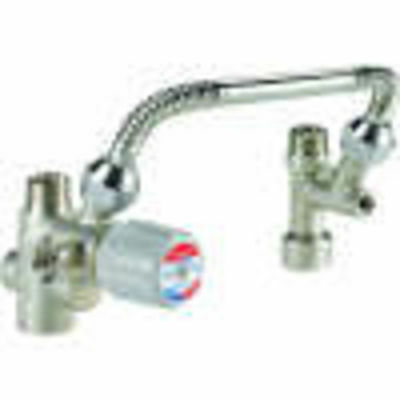 "Honeywell Amx302Tlf 3/4"" Directconnect Water Heater Mixing Valve Kit With 11"" Co"