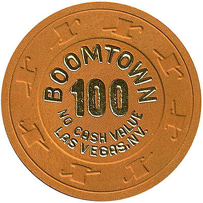 (1) Boomtown 100 NCV Clay Casino Chips Las Vegas H&C MOLD FREE SHIPPING *