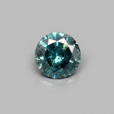 Only! $33.99/1pc 2.7mm Round Brilliant Natural Fancy Blue Diamond