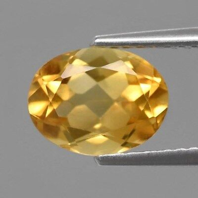Only! $4.99/1pc 9x7mm Oval Natural Medium Yellow Citrine, Brazil