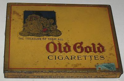 "Vintage Old Gold Cgarettes - Treasure of Them All Tin Box 4.5"" x 5.75"""