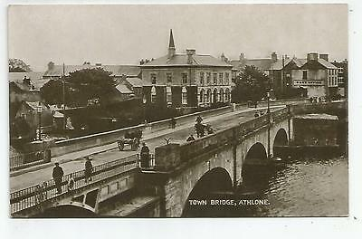 irish postcard ireland westmeath town bridge athlone