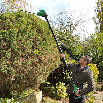BMC 450w Electric Long Reach Telescopic Pole Hedge Trimmer with Rotating Head